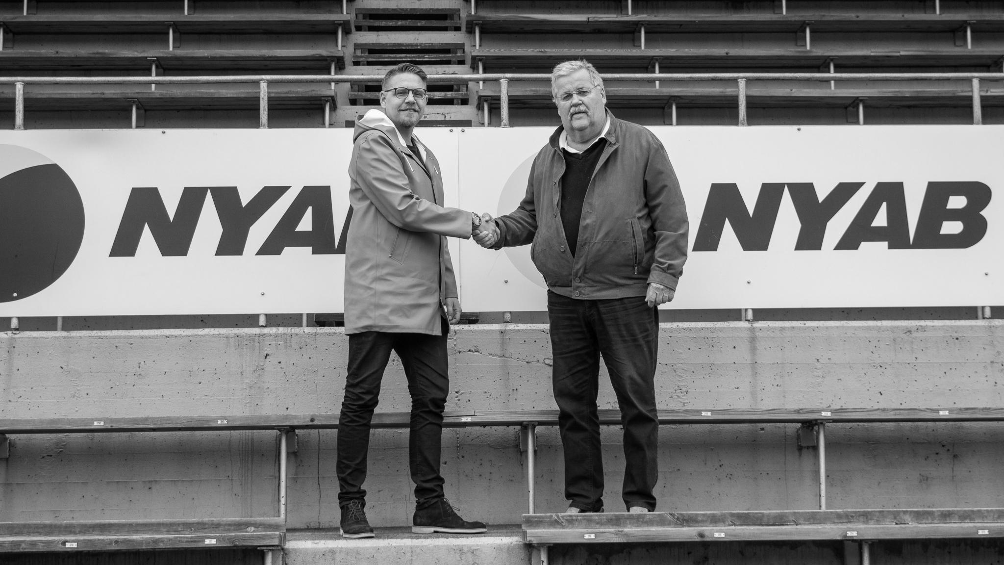 NYAB är ny titelsponsor till Skogsvallen, som framöver kommer heta Nyabvallen.